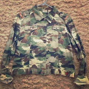 Camoflouge denim jacket